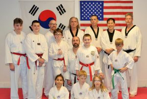 Blue Dragon Tae Kwon Do Students and Master